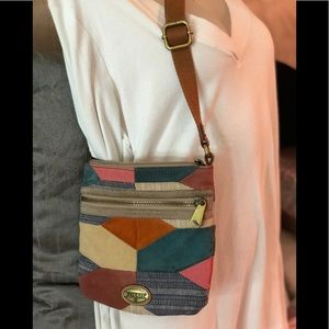 Fossil patchwork crossbody
